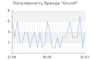 Популярность бренда grund