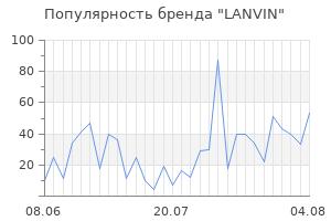 Популярность бренда lanvin