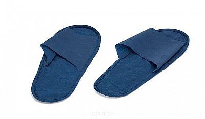 Igrobeauty, Тапочки на жесткой подошве открытые ЭВА (3 цвета), Синие, размер 39, 1 пара