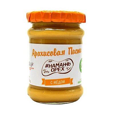 #Намажь_орех Паста арахисовая с медом 250 г