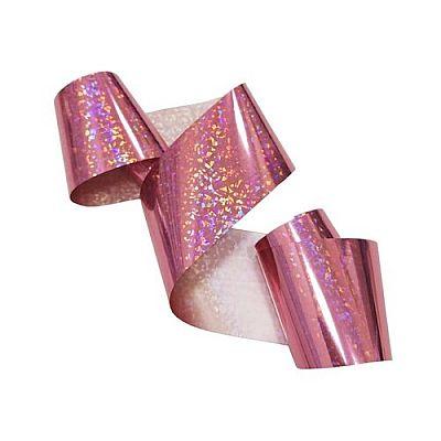 Фольга De.Lux переводная голографическая Метель розовая