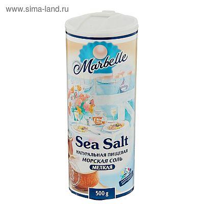 Соль морская Пудофф Marbelle мелкая, помол №0, 500 г