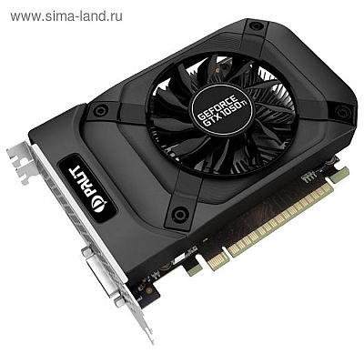 Видеокарта Palit GeForce GTX 1050TI StormX 4G,128bit,GDDR5,1290/7000,Ret