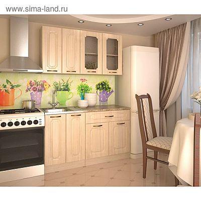 Кухонный гарнитур, грецкий орех 4, 1400 мм