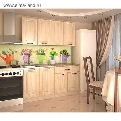 Кухонный гарнитур, грецкий орех 9, 1600 мм
