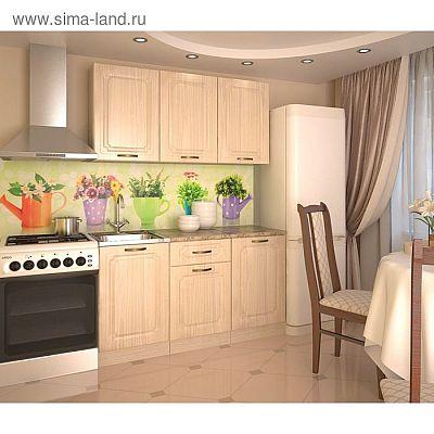 Кухонный гарнитур, грецкий орех 10, 1500 мм