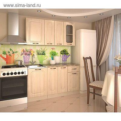 Кухонный гарнитур, грецкий орех 11, 1500 мм