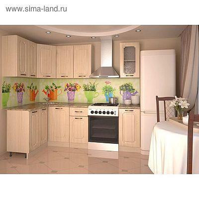 Кухонный гарнитур, грецкий орех 13, 1200 × 1800 мм, левый
