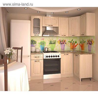 Кухонный гарнитур, грецкий орех 12, 2000 × 1100 мм, правый