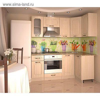 Кухонный гарнитур, грецкий орех 12а, 2000 × 1100 мм, правый
