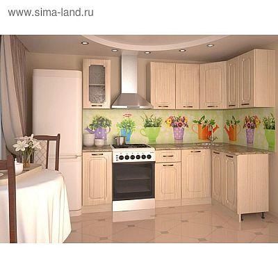 Кухонный гарнитур, грецкий орех 14, 1800 × 1200 мм, правый