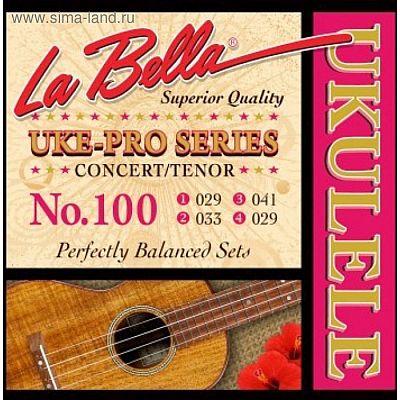 Струны для укулеле LA BELLA Set 100 Tenor/Concert - тенор/концерт