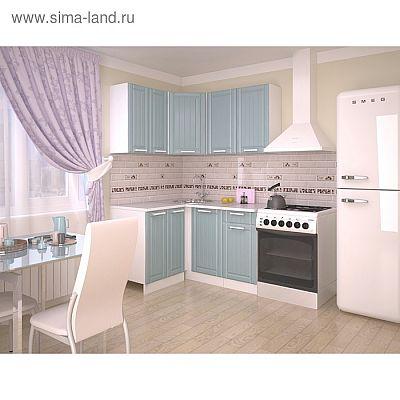 Кухонный гарнитур 1200х1400, 3Р РоялВуд, Голубой прованс 2