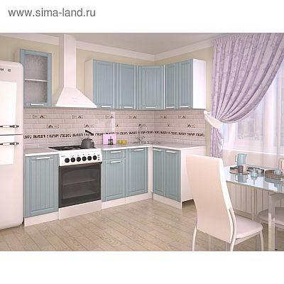 Кухонный гарнитур 1800х1200, 6Р РоялВуд, Голубой прованс 2