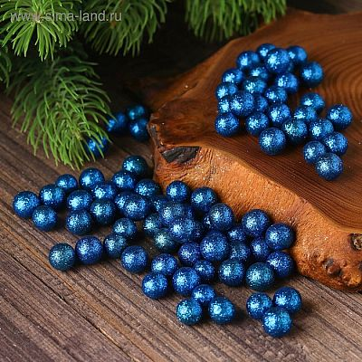 """Фигурка для поделок и декора """"Шар"""", набор 80 шт., размер 1 шт. 0,5 см, цвет синий"""