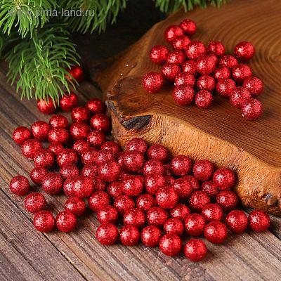 """Фигурка для поделок и декора """"Шар"""", набор 80 шт., размер 1 шт. 0,5 см, цвет красный"""