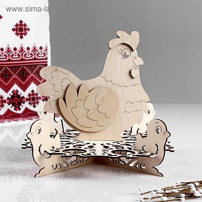 """Заготовка для творчества """"Курица с цыплятами"""", 29х29х21 см"""