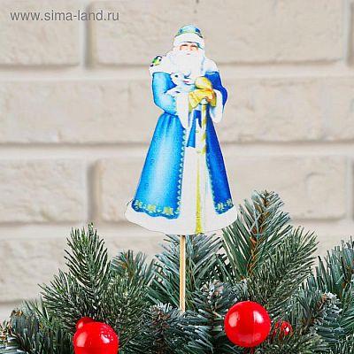 """Топпер деревянный, 6.5×30 см """"Новогодний. Дед Мороз"""", УФ-печать"""