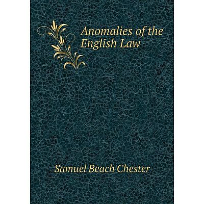 Книга Anomalies of the English Law