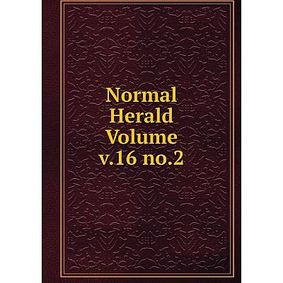 Книга Normal Herald Volume v16 no2