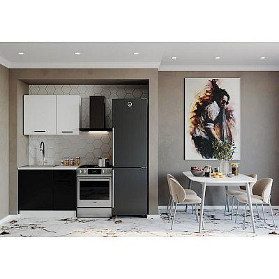 Кухня Графика 1032х600  Белый/Мрамор Марквина белый/ Жемчуг,Чёрный