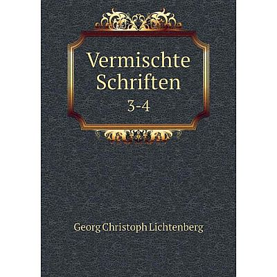Книга Vermischte Schriften 3-4