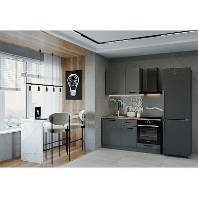 Кухня Антрацит 1632х600 Антрацит/Дуб Вотан/Антрацит