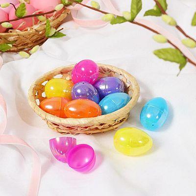 Основа для творчества «Яйцо перламутр», открывается, набор 10 шт., размер 1 шт: 3 × 4,5 см, цвета МИКС