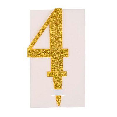 Топпер «4», акрил, цвета МИКС
