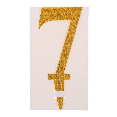 Топпер «7», акрил, цвета МИКС