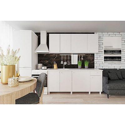 Кухонный гарнитур Поинт 1800, Белый фасад/ Белый корпус