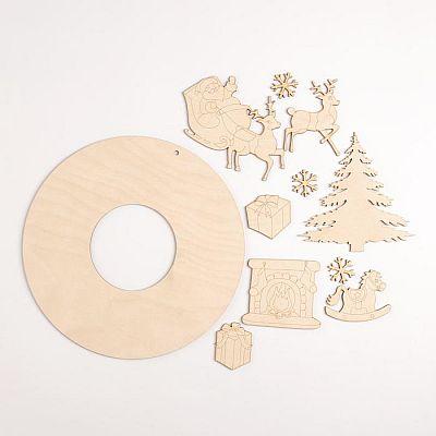 Рождественский венок Камин, d=25