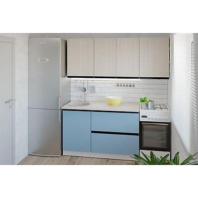 Кухонный гарнитур Соната макси 1800х600 Ясень шимо светлый,Капри/Белый