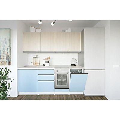 Кухонный гарнитур Соната ультра 2000х600 Ясень шимо светлый,Капри/Белый