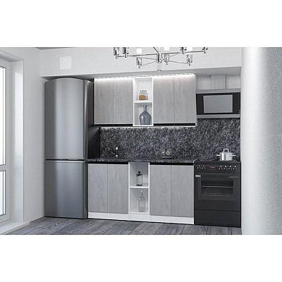 Кухонный гарнитур Сюита нормал 1500х600 Бетон светлый/Белый