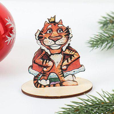 """Заготовка """"Символ года 2022. Тигр с короной"""" на подставке"""