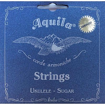 Струны для укулеле AQUILA SUGAR 153U концерт (Low G - C - E - A), 4 струна в оплетке.