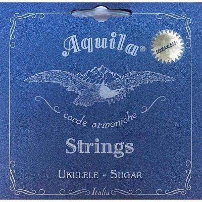 Струны для укулеле AQUILA SUGAR 155U тенор (Low G - C - E - A), 4 струна в оплетке.