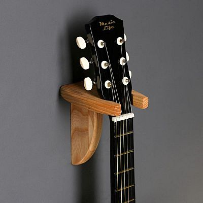 """Держатель для гитар """"Овал"""", настенный, массив ясеня"""