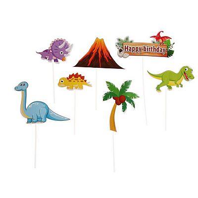"""Топпер """"С Днём Рождения"""" динозавры"""