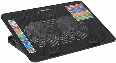 "STM Laptop Cooling IP17 Black (17,3"", 2x(125x125), 2x2 LED backlight, Black plastic+metal mesh"