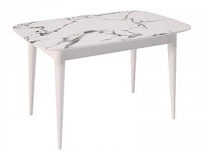 Кухонный стол Kenner W1250 Белый/Мрамор белый