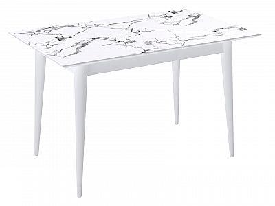 Кухонный стол Kenner F1200 Белый/Мрамор белый