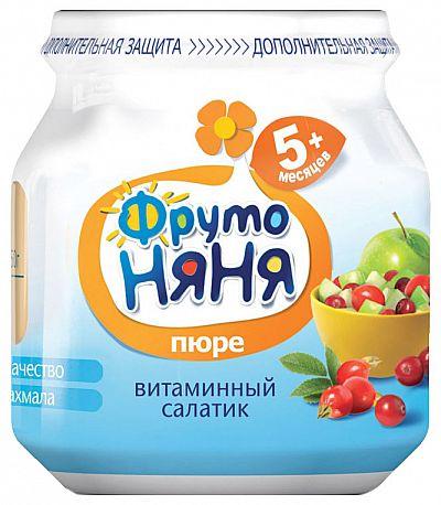 Пюре фруктовое ФрутоНяня Витаминный салатик с 5 мес. 100 г
