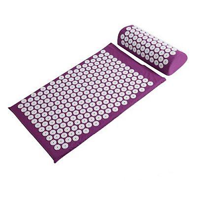Акупунктурный набор аппликатор Кузнецова + массажный валик фиолетовый