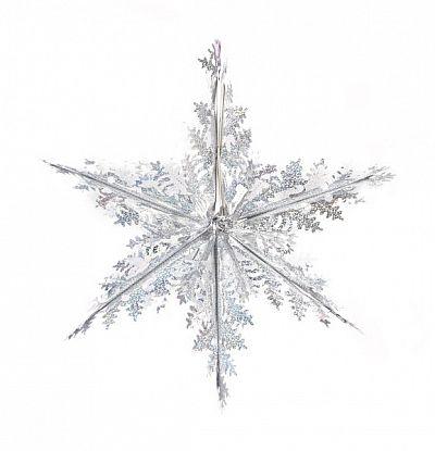 Аксессуар для Нового года Новогодняя сказка Снежинка 973594