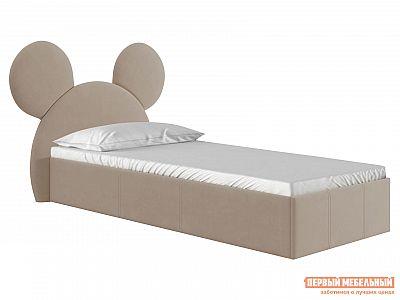 Детская кровать  Микки Бежевый, велюр, 900 Х 2000 мм