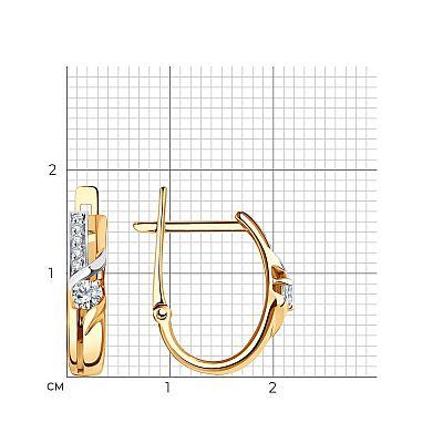 Серьги SOKOLOV из золота с фианитами