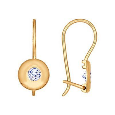 Серьги SOKOLOV из золота с голубыми фианитами