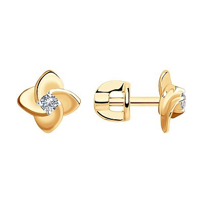 Серьги-пусеты SOKOLOV из золота с бриллиантами